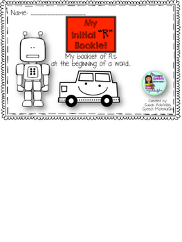 Speech Therapy Prevocalic /r/ Drawing Booklet Articulation