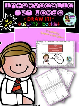 Speech Therapy Intervocalic /r/ Drawing Booklet Articulation