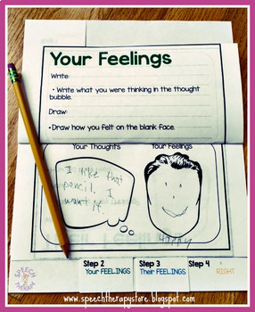 Speech Therapy Problem Solving Restorative Justice Graphic Visual