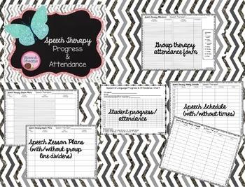Speech Therapy Progress Attendance Planning Reports Bundle