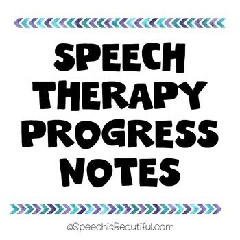 Speech Therapy Progress Notes {FREEBIE}