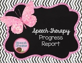 Speech Therapy Progress Report for Goals Objectives Effort Attendance EDITABLE