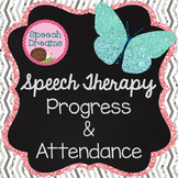 Speech Therapy Progress, Attendance, Planning, Scheduling EDITABLE