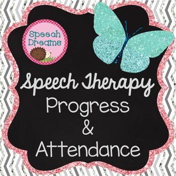 Speech Therapy Progress, Attendance, Planning, Scheduling
