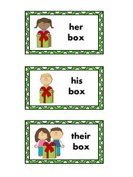 Speech Therapy:  Pronoun Visuals