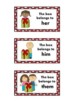 Speech Therapy:  Pronoun Visuals
