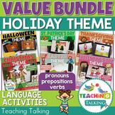 Preschool Language Activities for Holidays Bundle