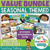 Speech Therapy Pronouns & Prepositions - Spring, Summer, Fall & Winter