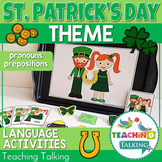 St. Patrick's Day Preschool Language Activities