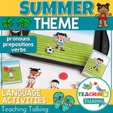 Speech Therapy: Pronouns & Prepositions for Summer