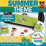 Summer Preschool Language Activities