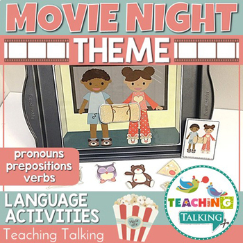 Speech Therapy: Pronouns, Verbs & Prepositions for Movie Night!