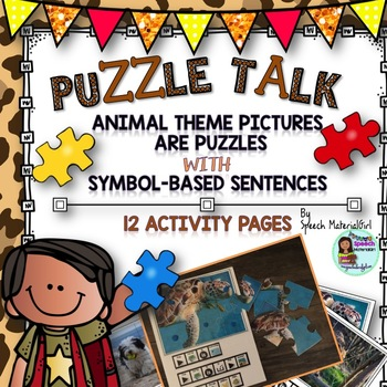 Speech Therapy Puzzle Talk Picture w  symbol based sentences attributes thoughts