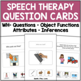 Speech Therapy Questions Bundle with Visual Choices   Auti