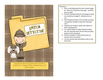 Speech Therapy:  Quick-Tics! - 10 Open-Ended Games for Artic and Language