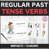 Speech Therapy Regular Past Tense Verbs Bundle