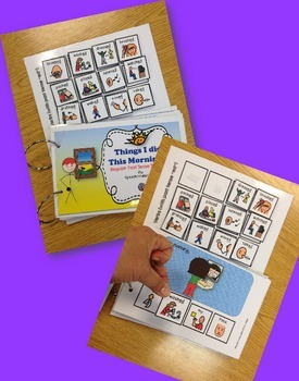 Speech Therapy Regular Past Tense booklet ©Boardmaker sentences Interactive