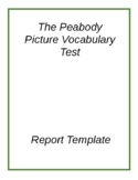 Speech Therapy Report Template PPVT-4