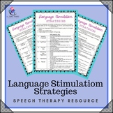 Speech Therapy Resource - Language Stimulation  Activities (special needs)
