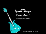 Speech Therapy Rock Star Badges and Certificates