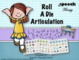 Speech Therapy Roll a Die Articulation