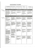 Speech Therapy Rubric