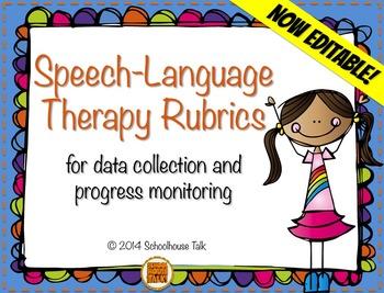 Speech Therapy Rubrics BUNDLE {data collection & progress monitoring}