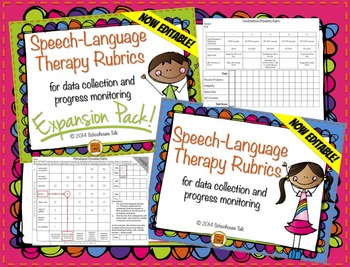 Speech Therapy Rubrics BUNDLE {data collection & progress