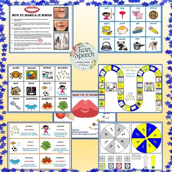 Speech Therapy: /S/ BLENDS MEGA UNIT: /SC/, /SL/, /SN/, /ST/, & /SW/ +screener