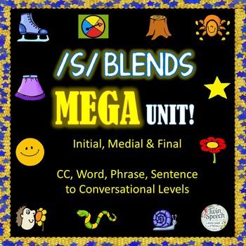 Speech Therapy: /S/ BLENDS MEGA UNIT: /SC/, /SL/, /SN/, /S