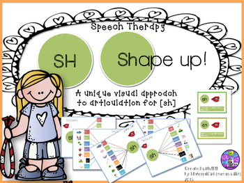 Speech Therapy SH Articulation Activity w/ VISUAL Graphic Organizer AUTISM