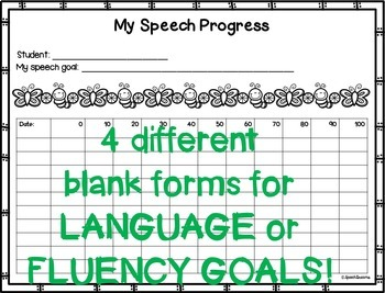 Speech Therapy STUDENT Data Tracking Forms {Progress Monitoring}
