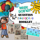 Speech Therapy SUMMER Interactive WHAT DOING Wh-question booklet Autism Sped
