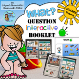 Speech Therapy SUMMER Interactive WHAT Wh-question booklet Autism Sped
