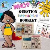 Speech Therapy SUMMER Interactive WHO Wh-question booklet Autism Sped