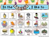 Speech Therapy SUMMER VOCABULARY Activity FLUENCY STUTTERING  - NO PREP