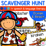 Speech Therapy Scavenger Hunt for Beach and Ocean Objects