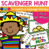Speech Therapy Scavenger Hunt for Cinco de Mayo