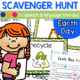 Speech Therapy Scavenger Hunt for Earth Day