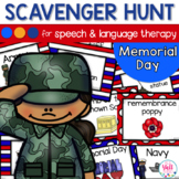 Speech Therapy Scavenger Hunt for Memorial Day