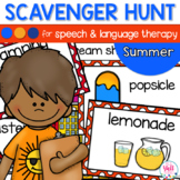 Speech Therapy Scavenger Hunt for Summer Vacation
