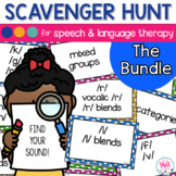Speech Therapy Scavenger Hunt Bundle