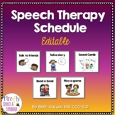 Speech Therapy Schedule {Editable}