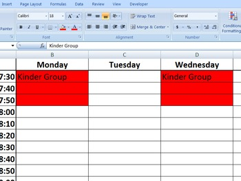 Speech Therapy Schedule: Editable