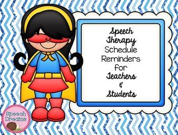 Speech Therapy Schedule Reminder