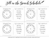 Speech Therapy Schedule Reminder Printable