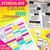 Speech Therapy Scheduling Survival Pack {Editable}