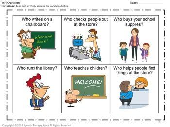 Speech Therapy School Supply Fun Language Bundle