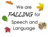 Speech Therapy Seasonal Goal Display
