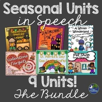 Speech Therapy Seasonal and Holiday Units Bundle